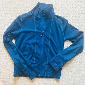 Lululemon Zip Up Jacket Blue Herringbone